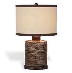 Mesa Southwestern Brown Chipped Texture Barrel Lamp #kathykuohome