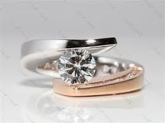 Image result for rose and white gold  ring
