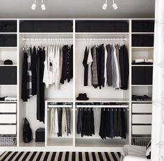 Trendy Open Closet Storage Ideas Walk In Bedroom Closet Doors, Bedroom Closet Design, Bedroom Wardrobe, Wardrobe Closet, Bedroom Storage, Master Closet, Diy Bedroom, Closet Mirror, Wardrobe Drawers