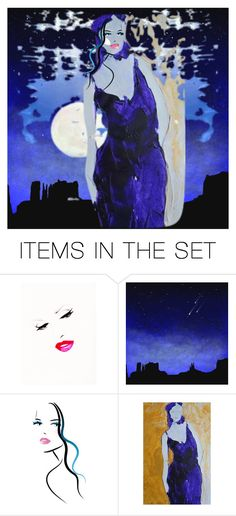 """""""Kissed by the Moon"""" by stefania-federici ❤ liked on Polyvore featuring art"""