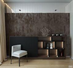 Дизайн квартиры в стиле контемпорари 82 кв. м   Студия LESH