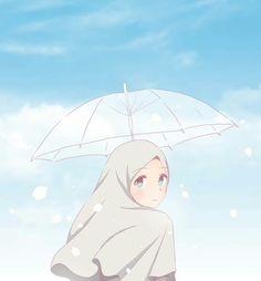 Muslim Pictures, Islamic Pictures, Hinata Hyuga, Anime Korea, Hijab Drawing, Islamic Cartoon, Bff Drawings, Hijab Cartoon, Islamic Girl