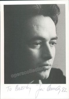 Spanish tenor (b. 1946), one of the most prominent singers of his generation, and particularly eminent in the operas of Verdi and Puccini. Signed photo of the star tenor, 5.75 x 8.25 inches, inscribed