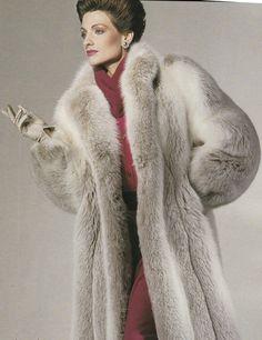 Beige Fox Fur Coat