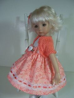 """Captivating Coral"" Made for 13"" Effner Little Darling   Doll by Treasured Doll Designs"