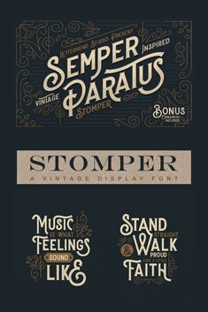 Introducing, Stomper Stomper is a display typeface with a vintage feel. Vintage Logo Design, Vintage Typography, Graphic Design Typography, Vintage Logos, Vintage Fonts Free, Graphics Vintage, Vector Graphics, Typeface Font, Cursive Fonts