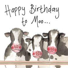 Cows Luxury Birthday Glitter Greeting Card by Alex Clark Happy Birthday To Moo Happy Birthday Cow, Happy Birthday Video, Happy Birthday Pictures, Farm Birthday, Happy Birthday Quotes, Happy Birthday Greetings, Birthday Cheers, Birthday Card Messages, Clark Art