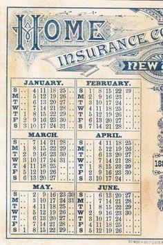 2/ Home Insurance New York 1880 Boy w Flowers Letter Calendar Victorian C 1880s