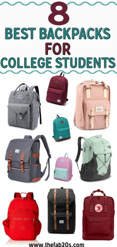 The 8 best college backpacks for both girls and boys! Find the best college backpacks under 100 and best heavy-duty college backpacks that will last you from freshman year to senior year. Longchamp Backpack, Prada Backpack, Vans Backpack, Coach Backpack, Michael Kors Backpack, Laptop Backpack, Backpack Bags, Guess Backpack, What's In My Backpack