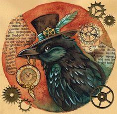 Steampunk Raven by kiriOkami