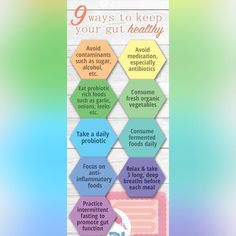 9 ways to keep your gut healthy! #guthealth #health #probiotics #Vivex #important #healthygut #gut  #tips