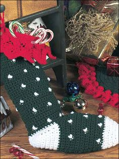 Snowflake Tree Skirt & Stocking