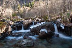 Inverno in Val di Mello (SO) Italy