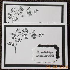 Trauerkarte mit Zweig