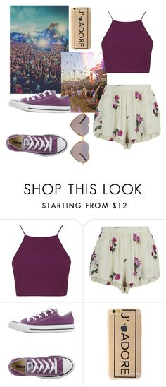 """"""""""" by cloclo-brd ❤ liked on Polyvore featuring TOMORROWLAND, Topshop, MINKPINK, Converse, Wildfox, women's clothing, women, female, woman and misses"""