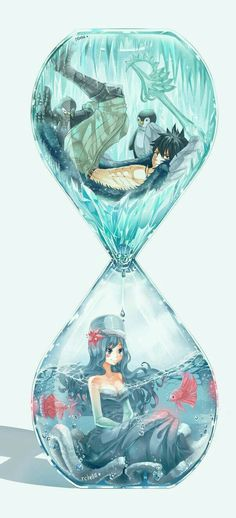 Time seems running away from them || but it's actually not even flowing