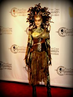 Angie Hill's much copied Medusa Costume 2014.   DeadSpidersWeb.com/medusa