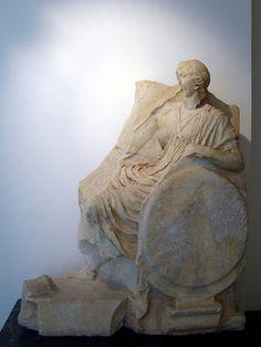 Monument of C. Julius Zoilos, detail of Roma    ca. 30 BCE.  Aphrodisias Museum, Turkey.