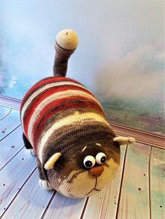 Beauty and Things (Strickspielzeug, Amigurumi) Crochet Animal Amigurumi, Cat Amigurumi, Crochet Animals, Crochet Toys, Animal Knitting Patterns, Crochet Dolls Free Patterns, Stuffed Animal Patterns, Sock Animals, Plush Animals