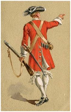 The Scottish Regiment of Foot Guards - Private circa. 1685.  For more information on Scottish Uniforms click on the link below:-