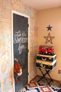 Map Wall in boys room
