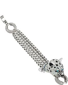 WHITEOUT CRYSTAL SNOW LEOPARD WRAP BRACELET CRYSTAL