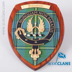 Johnstone Clan Crest Wall Plaque