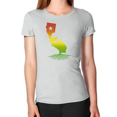 California Roots (Rasta surfer colors) Women's T-Shirt