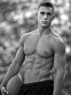 Hot bodied football player