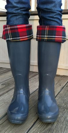 Rain boots are my favorite kind of shoes. They come in all different colors, prints, and styles, you can wear them on rainy days with your umbrella, or on sunny days with your garden hat. They are cute with skirts, jeans, and leggings. I like my rain boots :)