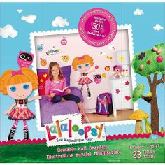 """Lalaloopsy Sew Magical! Sew Cute! Reusable Wall Graphics UR World Bea Spells-a-Lot by Lalaloopsy. $25.30. 23 Piece Bea Spells-a-Lot Wall Decor      Girls can personalize,customize, and decorate their bedroom with these adorable, """"sew magical and sew cute"""" Lalaloopsy Ur World Wall Decor and rag doll graphics.      The Lalaloopsy were once rag dolls who magically came to life when their very last stitch was sewn. Each doll has their own personality that comes fr..."""