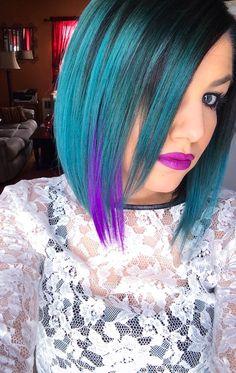 Pravana vivids - turquoise hair - violet hair