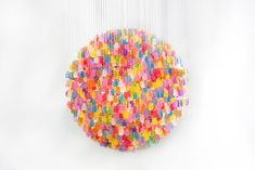 Chandelier Made from 3,000 Gummy Bears...my interests collide