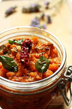 Indian Recipes Spicy Tomato Chutney/Relish Recipe for Tomato Lovers – Monsoon Spice Relish Recipes, Canning Recipes, Spicy Recipes, Indian Food Recipes, Vegan Recipes, Vegan Food, Indian Relish Recipe, Indian Snacks, Spicy Tomato Chutney