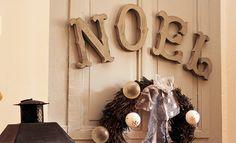 Déco Noël : créer des lettres à poser avec une planche de pin