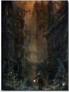 BloodBorne 1 2 Jogo art silk Poster em Pintura & Caligrafia de Home & Garden no AliExpress.com | Alibaba Group