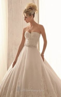 Alencon Lace Gown by Bridal by Mori Lee 2621
