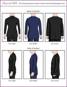 Should A Suit Jacket Fit Correct back and side fit for jackets Mens Suit Fit, Grey Suit Men, Mens Suits, Mens Style Guide, Men Style Tips, Suit Fit Guide, Large Men Fashion, Mom Fashion, Fashion Wear