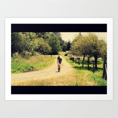 country roads Art Print by countryeverafter - $15.00