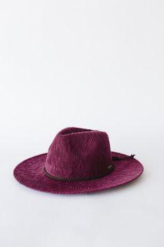 Eve - Burgandy Knit Floppy Hat
