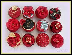 coco's red and gold collection by Coco's Cupcakes Camberley, via Flickr