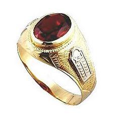 Anel de formatura medicina  em ouro 18k 750 1 pedra vermelha RUBI 50 PONTOS Peso: 8 GRAMAS