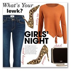 """""""Girls' Night Out: What's Your Lewk?"""" by sonyastyle ❤ liked on Polyvore featuring Kate Spade, Paige Denim, Sam Edelman, girlsnight, girlsnightout, polyvoreeditorial and polyvorecontest"""