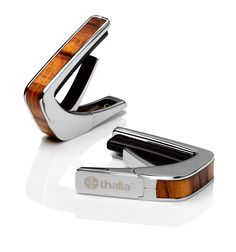Thalia Guitar Capo 150 with Chrome Finish and Blue Abalone Inlay -- shop.thaliacapos.com #thaliacapos #guitar