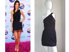FREE PEOPLE ~KENDALL FAVE~ ONE-SHOULDER ZIPPER TRIM DETAIL LBD MINI DRESS $128 2 #FreePeople #OneShoulder #Casual