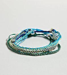 AEO Blue Friendship Bracelet Set