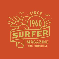 """""""Explorations in vibes for Surfer Magazine:"""" Typography Logo, Logo Branding, Typography Design, Hipster Logo, Surfer Magazine, Retro Logos, Badge Design, Graphic Design Inspiration, Romantic Vacations"""