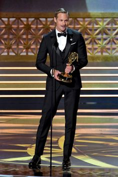 Alexander Skarsgard winning the Emmy for outstanding supporting actor in a limited series or movie on 9/17/17