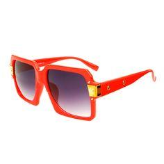 Retro Designer Style Large Square Aviator Sunglasses Shades A93