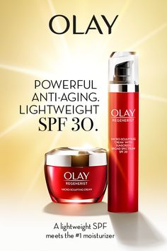 Lightweight SPF 30 meets the #1 moisturizer in Olay Regenerist Micro-Sculpting Cream. Protects skin every day, in any season – for years off your skin age. Learn more at Olay.com today.